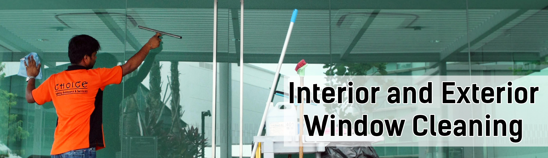 Interior and Exterior Window Cleaning